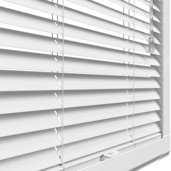 Pure Wood Bright White Perfect Fit Wooden Venetian Blind